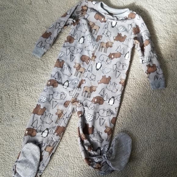 NWT OSH KOSH 1 pc  Girl/'s Footed Fleece PJ Sleeper Snowflakes 24M 2T 3T 4T